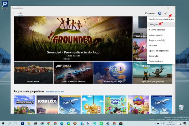 apps loja Microsoft atualização Windows 10