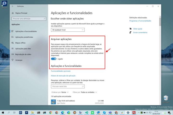 Windows 10 espaço Microsoft apps utilizadores