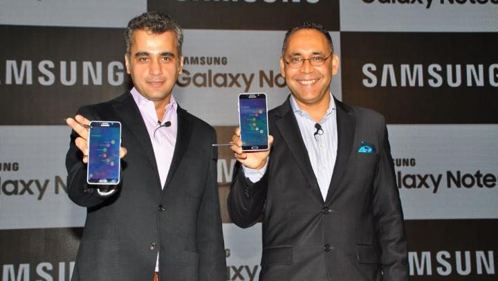 Imagem representante da Samsung e do governo da Índia