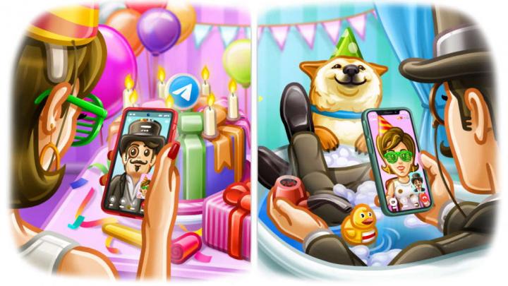 Telegram chamadas vídeo aniversário Android