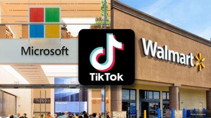 Imagem Walmart com Microsoft para comprar TikTok nos EUA