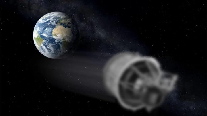 Ilustração de objeto que vem em direção à Terra