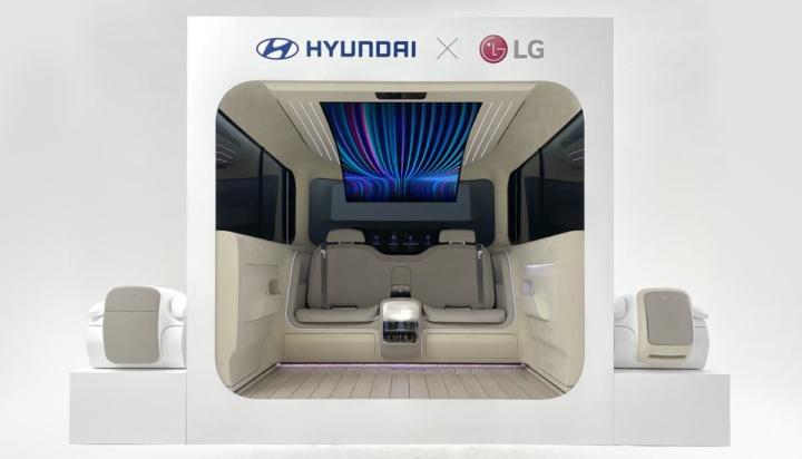 Imagem ecrã LG nos carros elétricos Hyundai