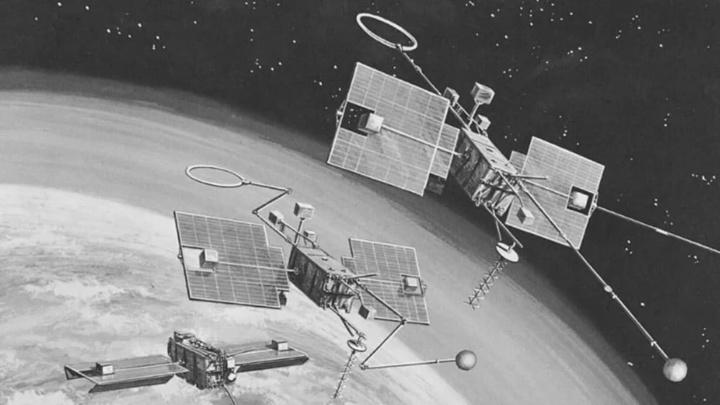 Imagem de satélites OGO da NASA que caíram já na Terra
