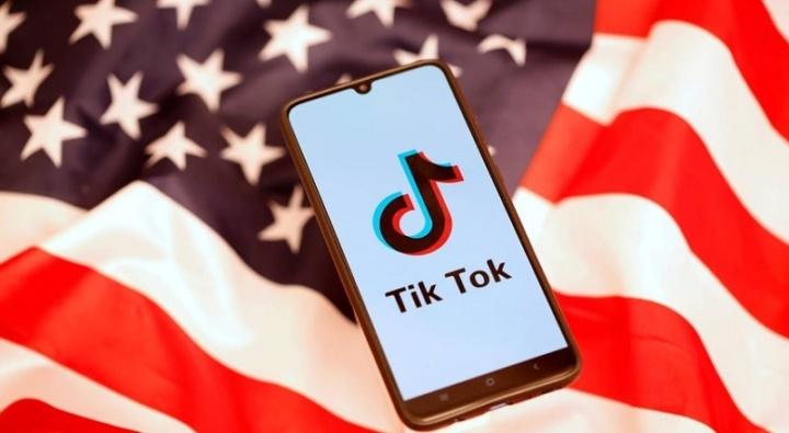 Imagem app TikTok nos Estados Unidos