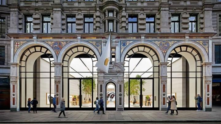 Imagem loja da Apple em Londres