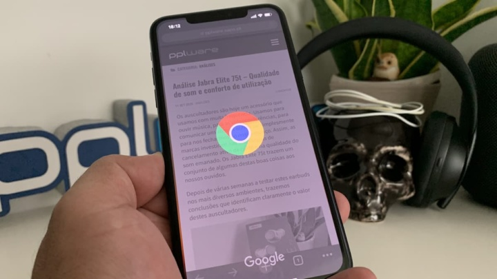Imagem browser Chrome predefinido no iOS 14