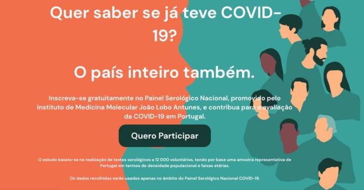COVID-19: Quer saber se foi infetado? Inscreva-se e faça um teste gratuito