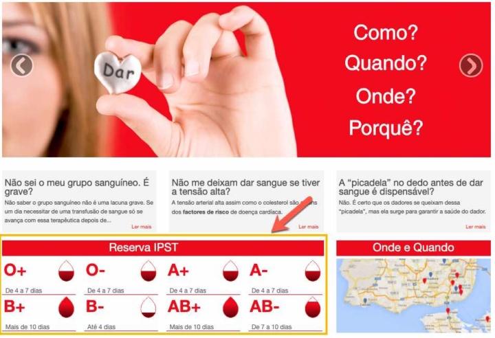 Veja online quais as reservas de sangue em Portugal
