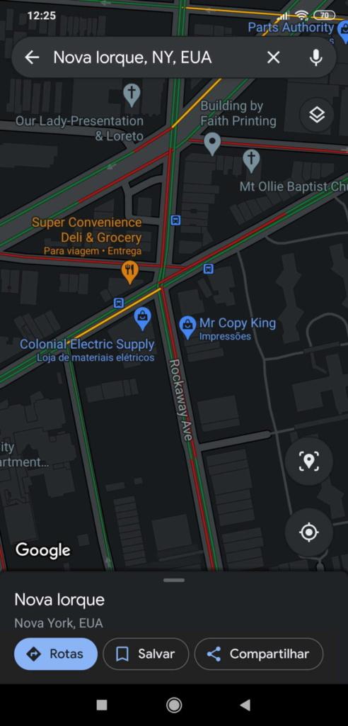Google Maps dark mode novidade