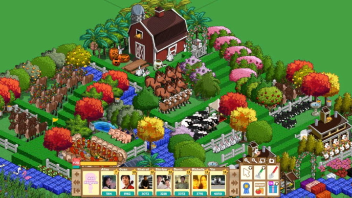 FarmVille Facebook flash game technology