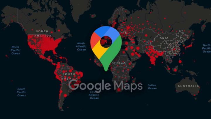 Google Maps COVID-19 dados áreas