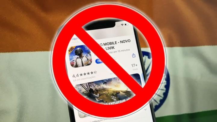 Imagem PUGB banido na Índia com mais de 100 apps