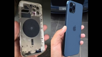Imagem do suposto chassi do iPhone 12