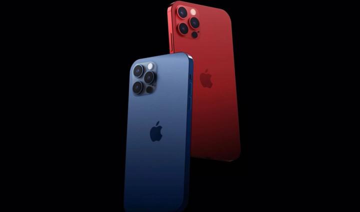 Ilustração do iPhone 12 em duas novas cores