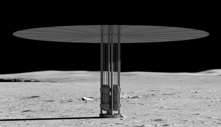 Imagem reator nuclear da NASA na Lua