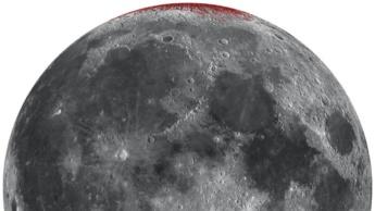 Ilustração da Lua com ferrugem