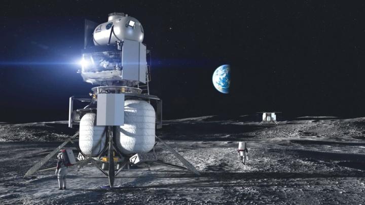 Imagem da NASA com um pouso na Lua
