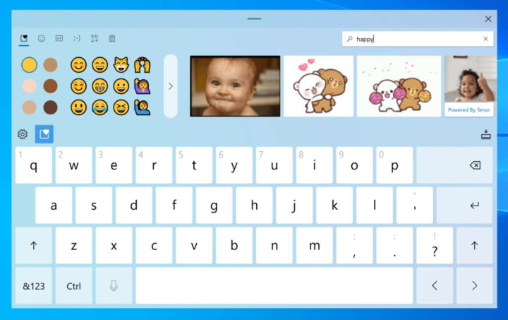 Windows 10 GIFs Microsoft escrita novidades
