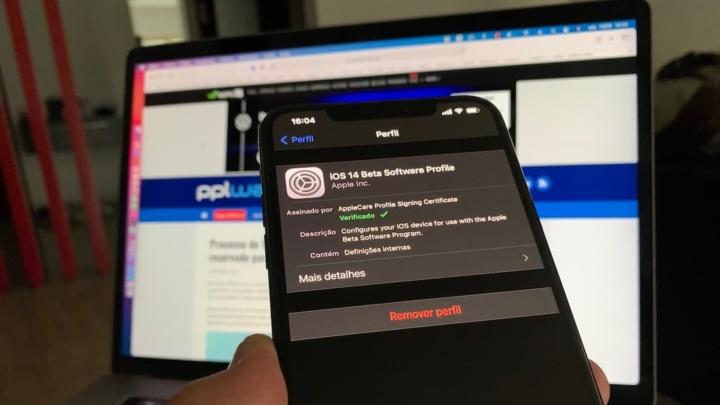 Imagem perfil beta do iOS 14