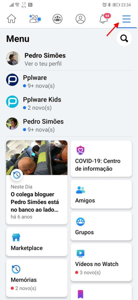 Facebook Dropbox exportar fotografias vídeos