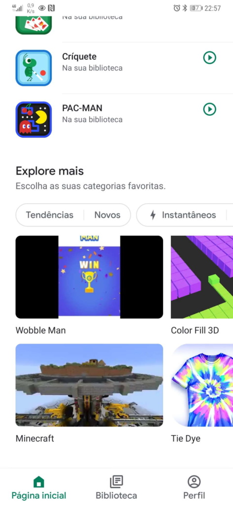 jogos Android grátis Google Play Games