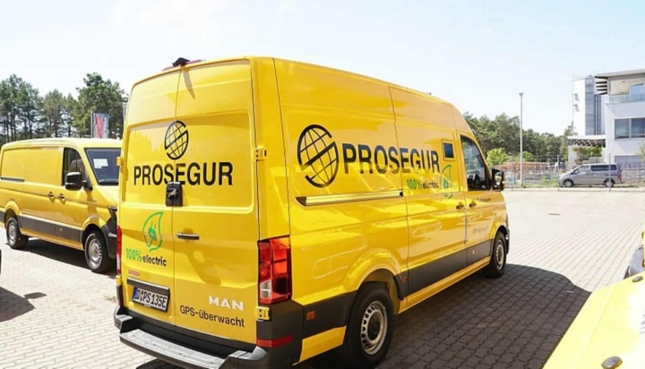 Imagem carrinha elétrica Prosegur na Alemanha