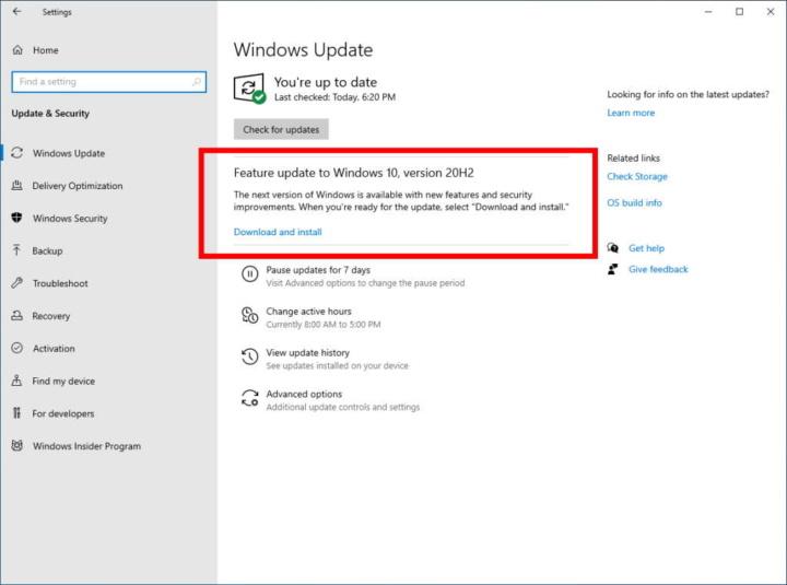 Windows 10 atualização Microsoft outubro testes