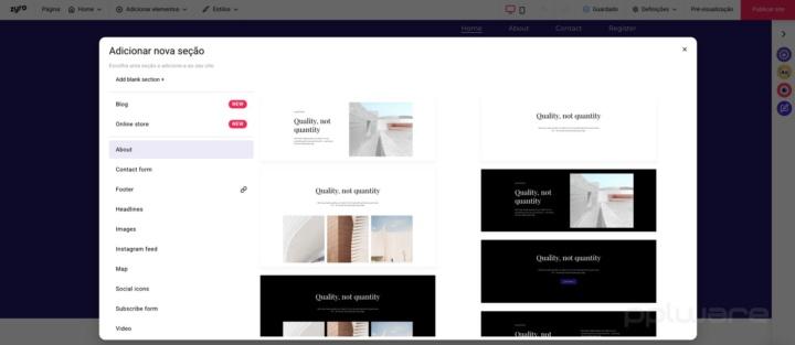 Zyro - construa rapidamente o seu site com uma ferramenta baseada em IA