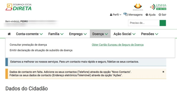 Cartão Europeu de Seguro de Doença! Já pediu o seu online?
