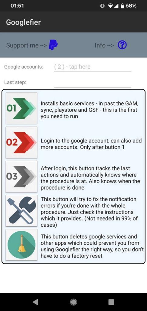 Googlefier Huawei Google apps smartphones