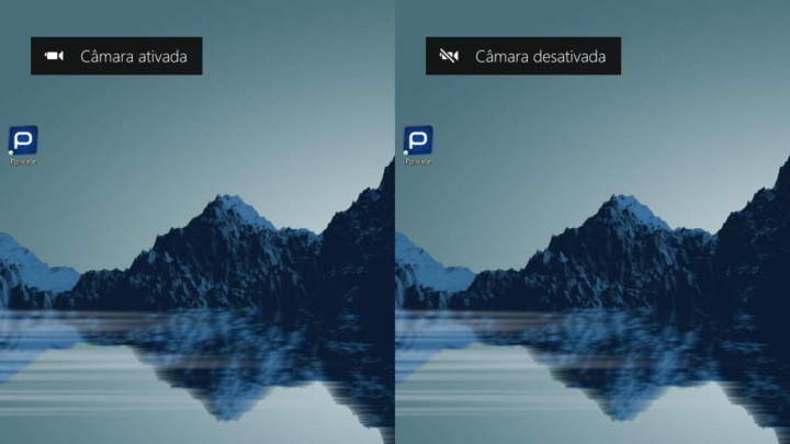Windows 10 câmara web notificação alerta