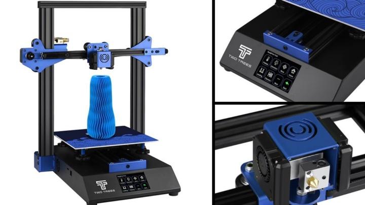 Imagens da impressora 3D TwoTrees Bluer que custa menos de 150€