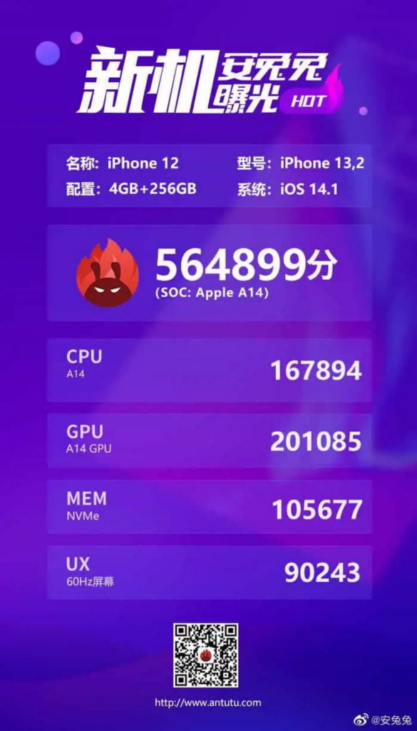 iPhone 12 A14 Bionic Snapdragon 865 Antutu performance