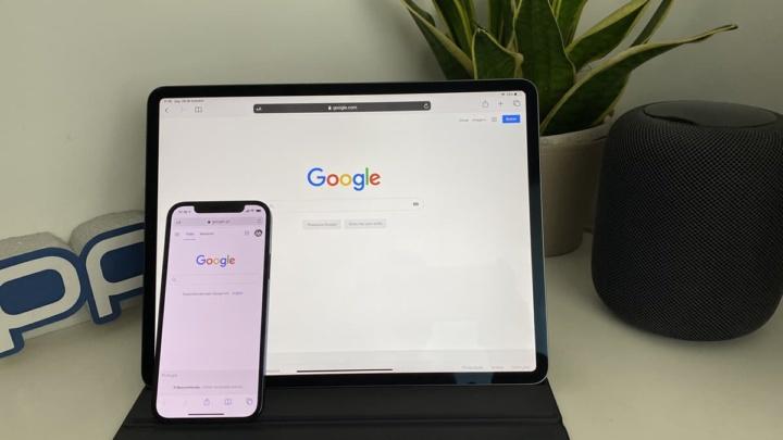 Imagem do motor de pesquisa da Google nos dispositivos Apple