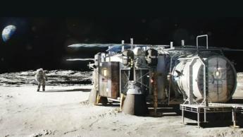 Imagem da bade da Lua do programa Artemis