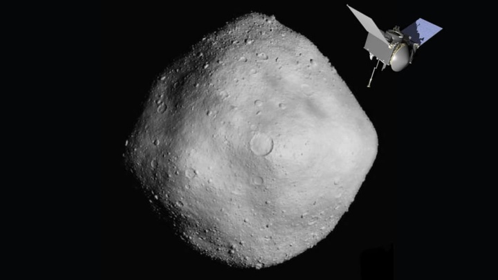 Imagem do asteroide Bennu que pode ter água