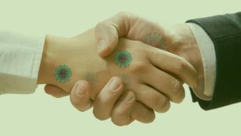 Imagem novo coronavírus na pele humana