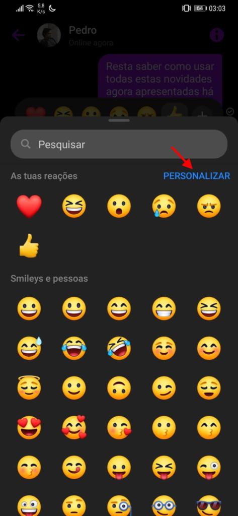 emojis Messenger Facebook personalizar mensagens