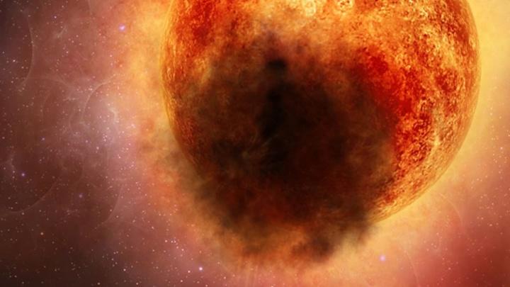 Imagem da estrela gigante Betelgeuse que estará para explodir numa supernova. A estrela mais próxima da Terra