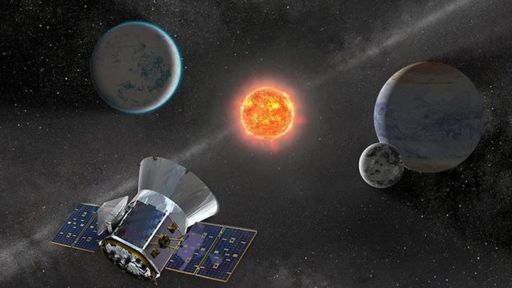 Ilustração do TESS que descobriu TOI 700 d, um planeta que tem o tamanho da Terra.