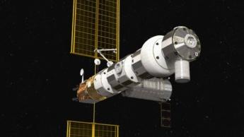 Imagem do orbitador Gatway da NASA e ESA para exploração da Lua
