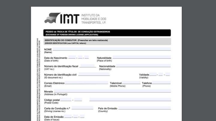 IMTonline: Já pode trocar online a carta de condução estrangeira por portuguesa