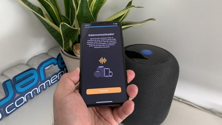 Imagem da função Intercomunicador do HomePod