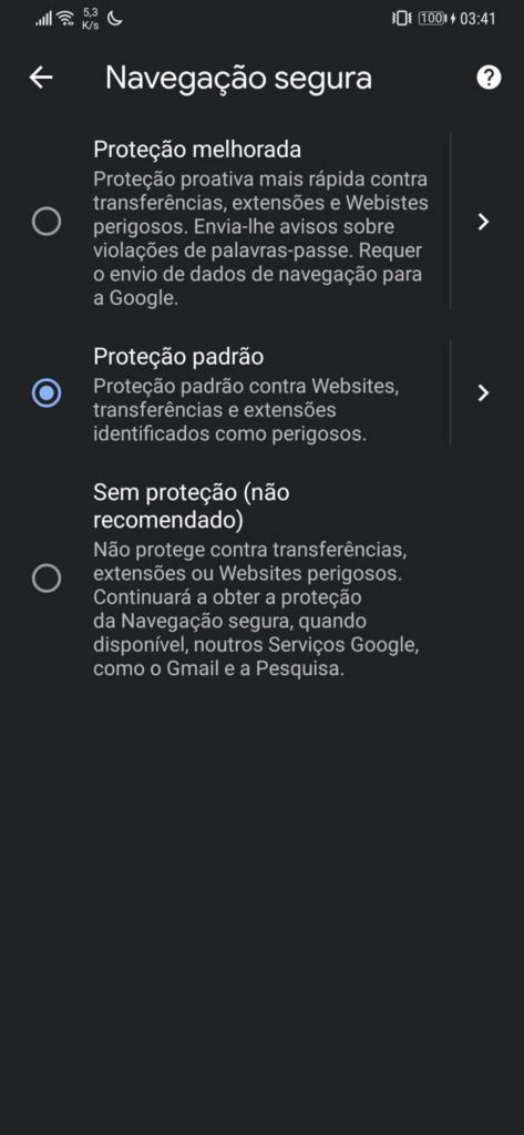 Chrome Google seguro browser proteção
