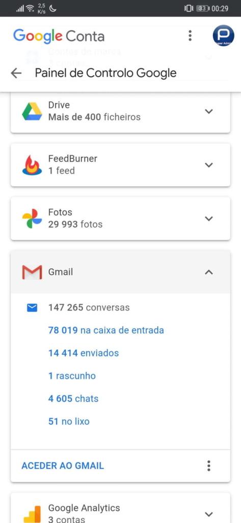 Google conta dados ocupação gestão