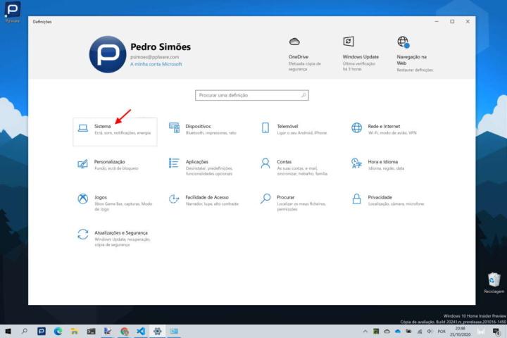 Windows 10 dados Microsoft Definições Painel de controlo