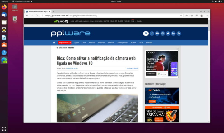 Edge Linux Microsoft browser prometido