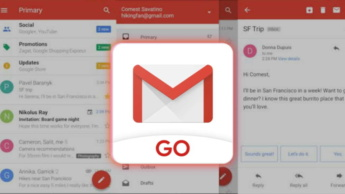 Gmail Go Google app smartphones recursos