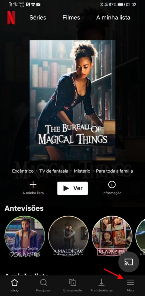 Streaming de vídeo com qualidade Netflix Android